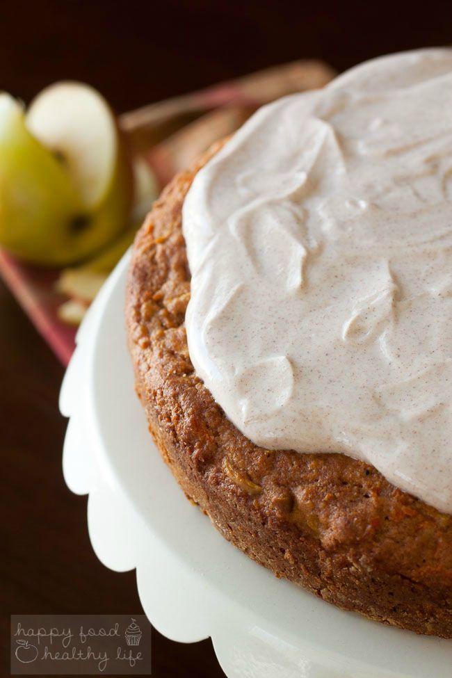 Apple Carrot Cake with Greek Yogurt Frosting