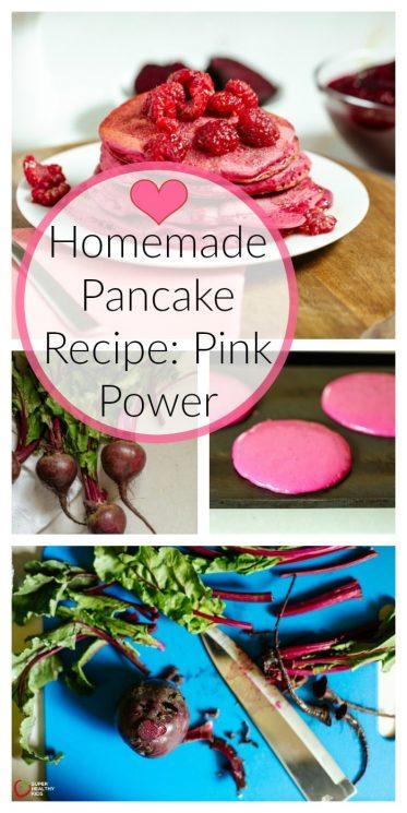 Homemade Pancake Recipe: Pink Power