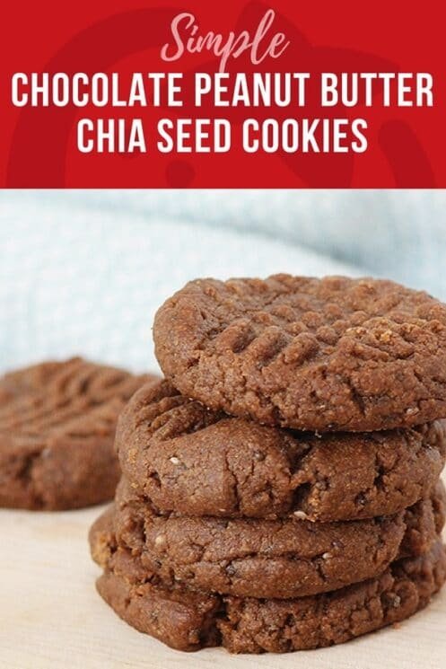 simple and delicious chocolate chia seed cookies