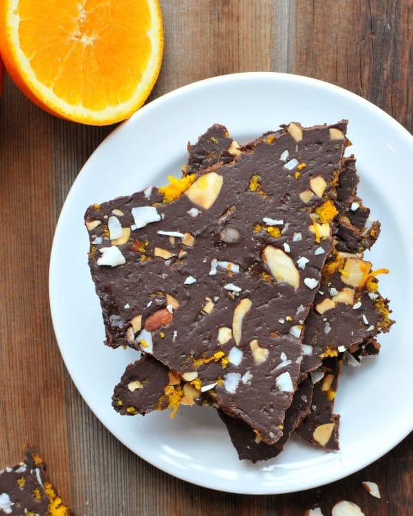Chocolate Avocado Bark. Coconut + Orange Zest makes this chocolatey treat absolutely amazing!! www.superhealthykids.com