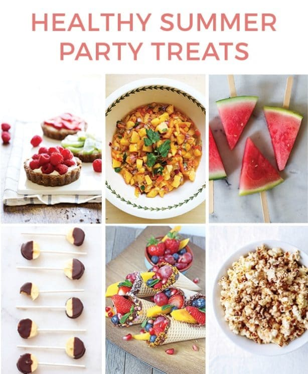 Healthy Summer Party Treats. Yummy ideas that everyone will love at a party! www.superhealthykids.com