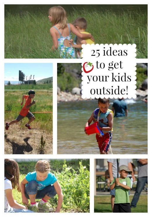 25 Ideas to get your kids outside, while it's still warm! Warmer days are coming...get your kids outside to play!