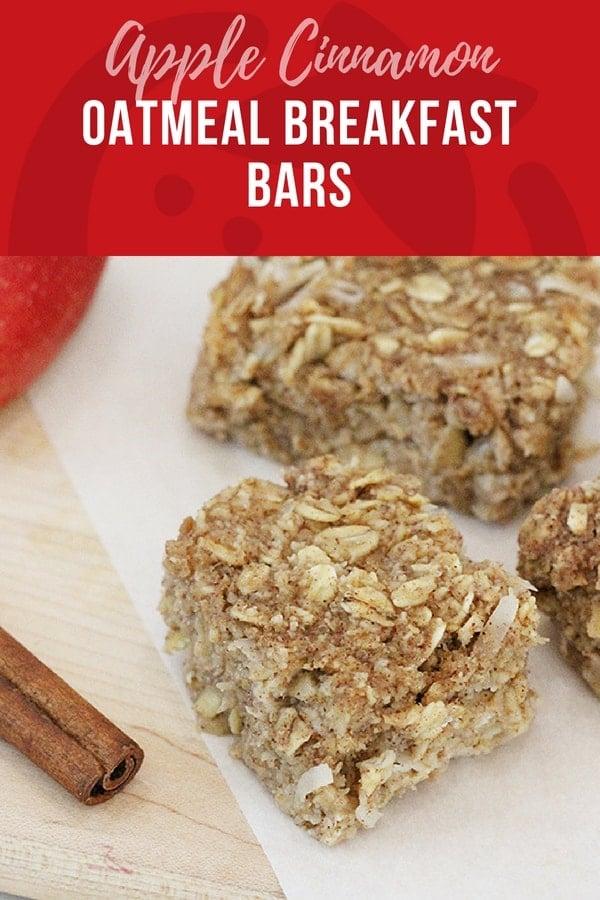 Apple Cinnamon Oatmeal Breakfast Bar