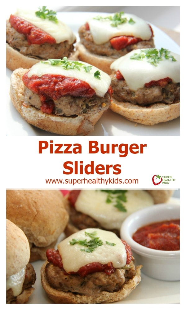 FOOD - Pizza Burger Sliders. Two of the best flavors packed into one perfect size slider. http://www.superhealthykids.com/pizza-burger-sliders/