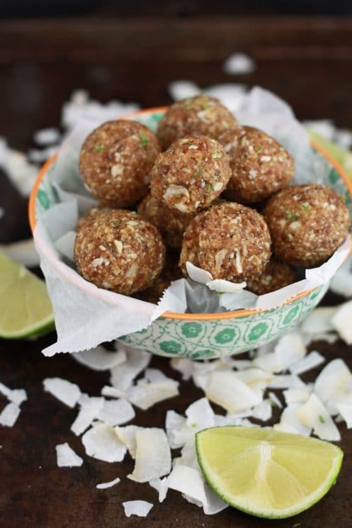 Coconut Lime Energy Bites - Allergen friendly and the perfect size for packing! www.superhealthykids.com
