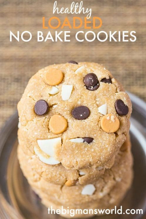 Healthy Loaded No Bake Cookies- Easy, no mess and customisable, these are the perfect lunch box treat or anytime snack! {gluten free, vegan}