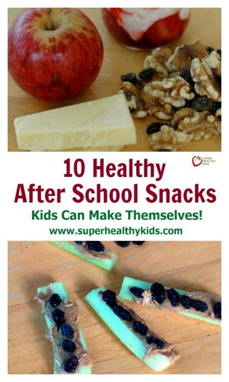 FOOD - 10 Healthy After School Snacks Kids Can Make Themselves! https://www.superhealthykids.com/10-healthy-school-snacks-kids-can-make/