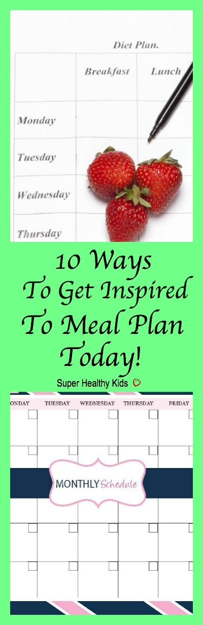 10 Ways to Get Inspired to Meal Plan Today. Don't skip meal planning this week! Get inspired, and get it done!