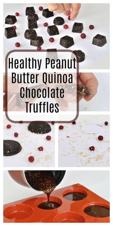 Healthy Peanut Butter Quinoa Chocolate Truffles