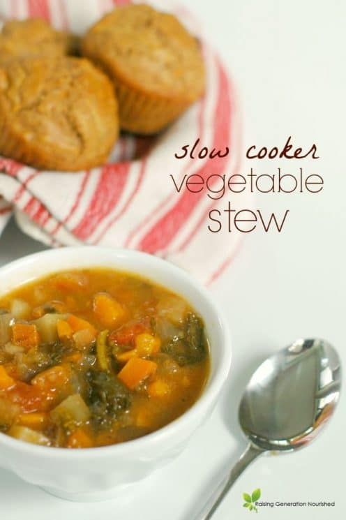 Slow Cooker Vegetable Stew with Chicken
