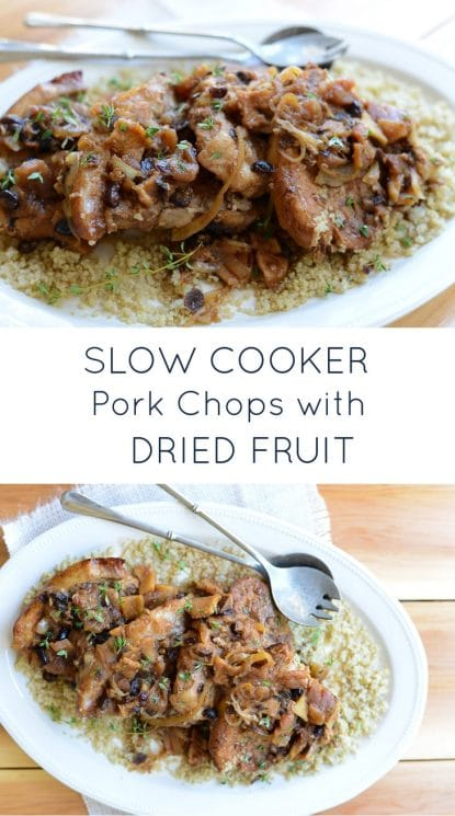 Slow Cooker Pork Chops. Sweet, savory, , melt in your mouth. The perfect comfort dinner for Fall. www.superhealthykids.com