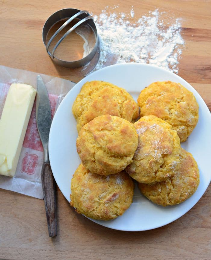Quick and Easy Sweet Potato Biscuits. Serve these with your favorite soup and you've got a perfect Fall pairing!