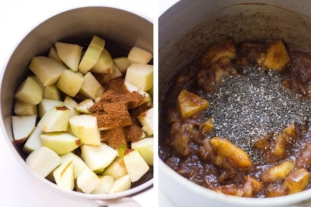 Apple Pie Overnight Oats + Quinoa - a simple, healthy and absolutely delicious way to start the day. www.superhealthykids.com