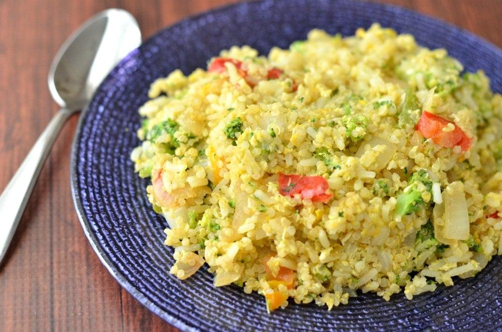 Broccoli Quinoa Fried Rice Recipe