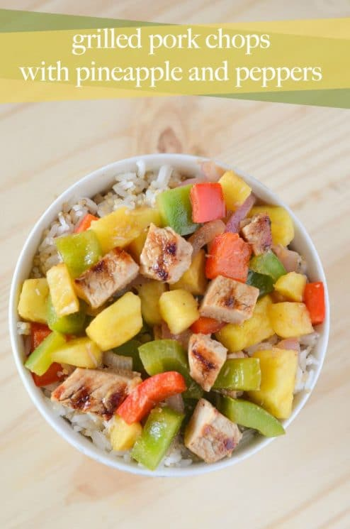 Grilled Pork Chops with Pineapple and Peppers Recipe