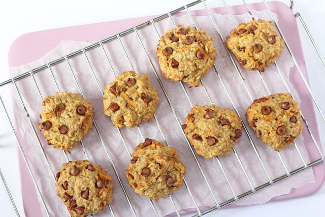 Healthy Carrot & Apple Breakfast Oat Cookies - Super Healthy Kids