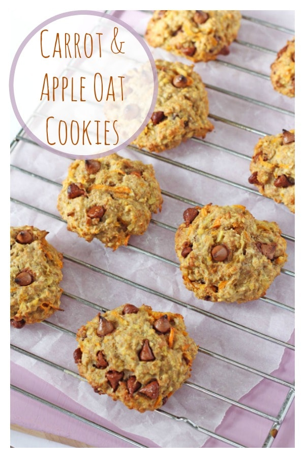 Healthy Carrot & Apple Breakfast Oat Cookies