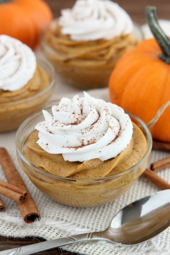 Pumpkin Mousse. So light, creamy and fluffy, this Pumpkin Mousse is a must on your holiday table! www.superhealthykids.com