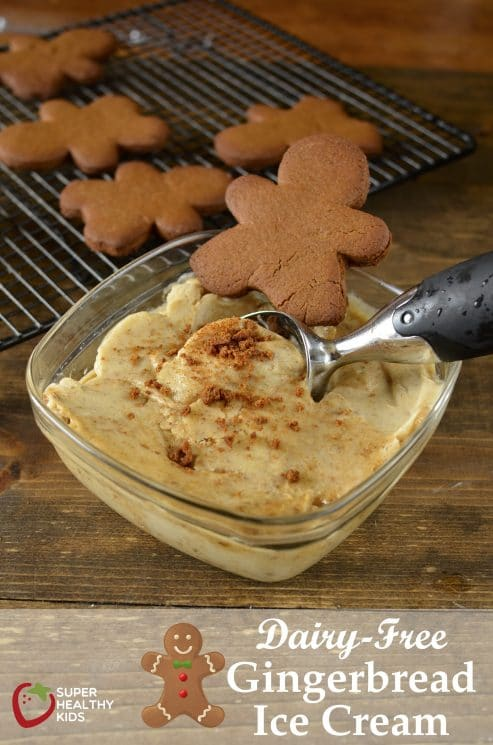 Dairy Free Gingerbread Ice Cream. Quick and easy recipe for dairy free Ginger bread Ice cream!