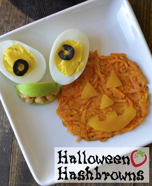 Halloween Hash Browns Breakfast Recipe. Fun Halloween breakfast to start the festivities in a healthy way!