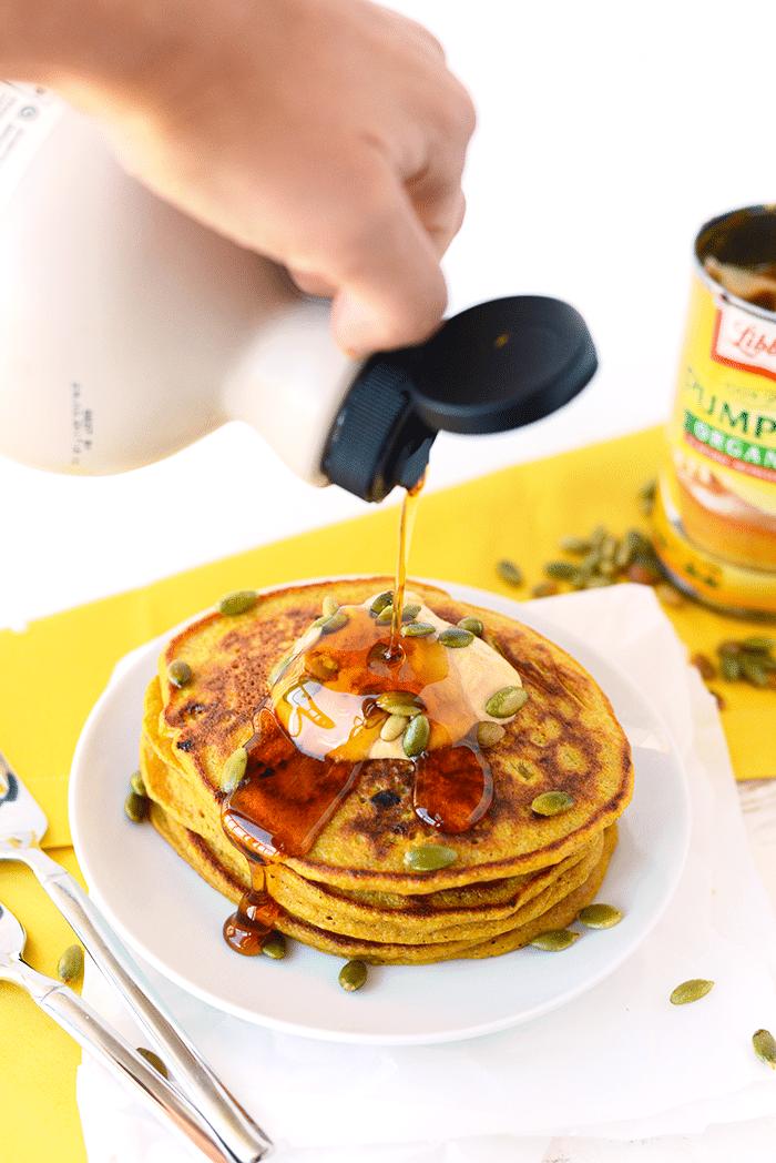 Whole Grain Pumpkin Pancake Recipe