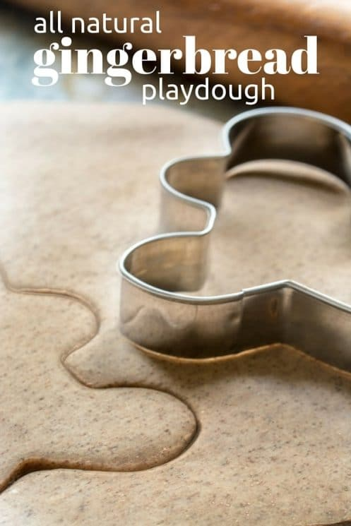 All Natural Gingerbread Playdough recipe that smells amazing!! www.superhealthykids.com
