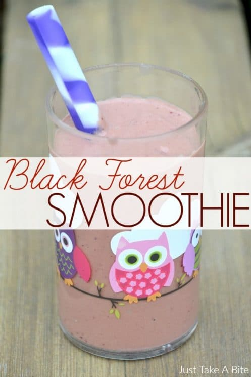 FOOD - Black Forest Smoothie. This chocolate cherry black forest smoothie is like drinking dessert, but is packed with nutrition! https://www.superhealthykids.com/black-forest-smoothie/