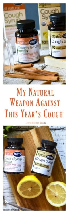My Natural Weapon Against This Year's Cough. Do you want a clean, natural cough syrup that actually works? I've got just the thing for you: Maty's Natural Cough Syrup. https://www.superhealthykids.com/natural-weapon-years-cough/