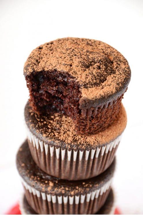 Fudgy Vegan Beet Cupcakes