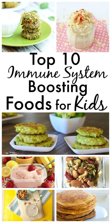 FOOD - Top 10 Immune System Boosting Foods For Kids. Naturally boost their immune systems and keep your kids healthy all year long! https://www.superhealthykids.com/top-10-immune-system-boosting-foods-kids-ideas-recipes/