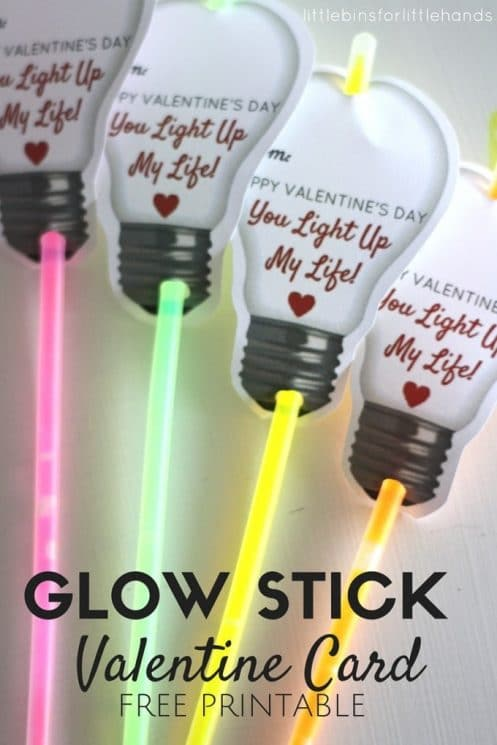 glow stick valentine with a light bulb picture