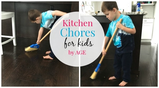 Kitchen Chores for Kids by Age. Ever wonder what chores are age appropriate for your kids? Our guide can help you! www.superhealthykids.com