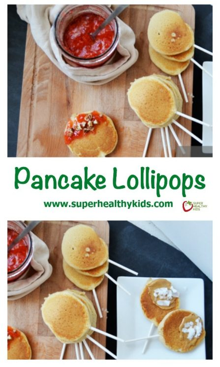 Pancake Lollipops. You'll love how easy it is to turn a boring pancake into a treat with nothing more than this! https://www.superhealthykids.com/never-get-tired-pancakes-pancake-lollipops/