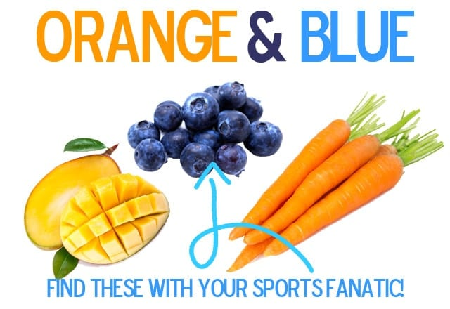 Find Fruits and Veggies for your Sports Fans!