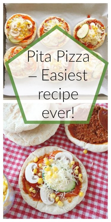 Pita Pizza – Easiest recipe ever!