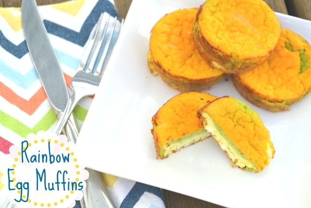 Rainbow Egg Muffins. These are super filling, packed with nutrition and fun for kids to eat! www.superhealthykids.com