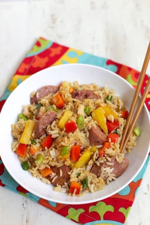Cheap, healthy kids meals | Pineapple Fried Rice | Beanstalk Mums