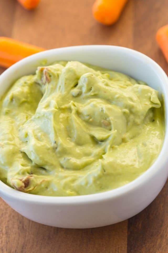 Creamy Guacamole made all in your blender! Super quick and amazing for snacks, or an appetizer. www.superhealthykids.com