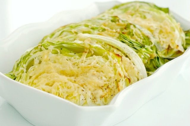 Parmesan Roasted Cabbage Wedges. Quick prep and amazing flavor! These are the perfect side dish any night of the week for the whole family!