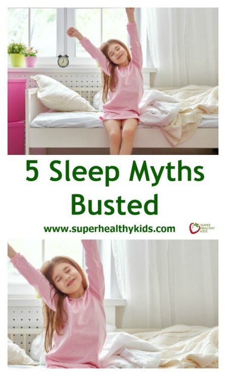 5 Sleep Myths Busted - 5 of the most common sleep myths in kids busted. Find out what you really need to know to get your kids to sleep well.