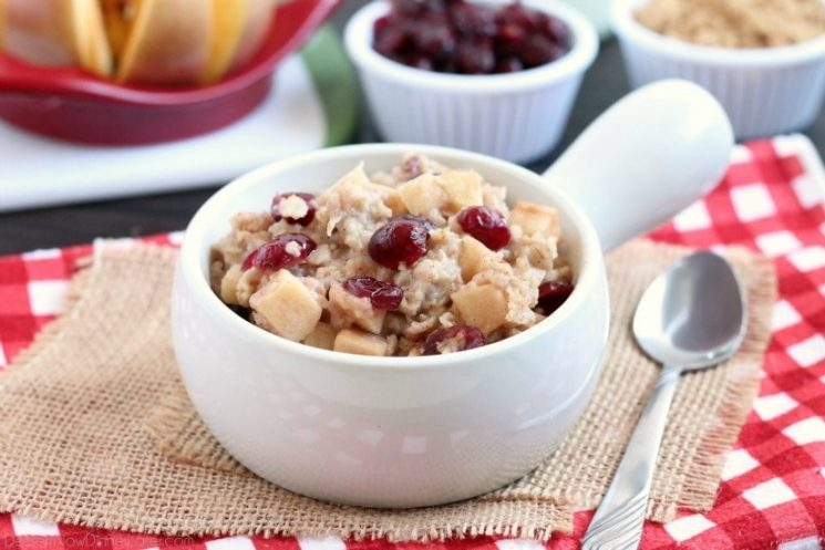 Cranberry-Apple-Slow-Cooker-Oatmeal - Dessert Now DInner Later