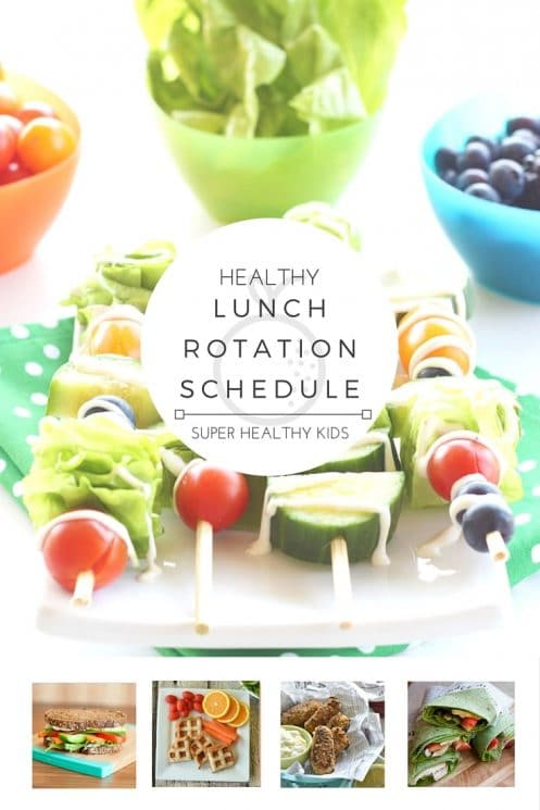 MEAL PLANNING - HEALTHY LUNCH ROTATION SCHEDULE! Do you struggle with knowing what to eat every day for lunch? Want a fun way to involve the whole family at lunchtime? With this handy rotation schedule each day of the week brings a fun new lunch idea! You'll never run out of ideas on healthy ways to break up your day & you'll satisfy your hunger in the most nutritious way! https://www.superhealthykids.com/healthy-lunch-weekly-planner/
