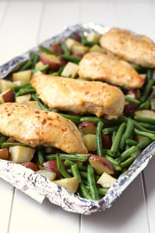 One Pan Honey Garlic Chicken and Vegetables , Super Healthy Kids