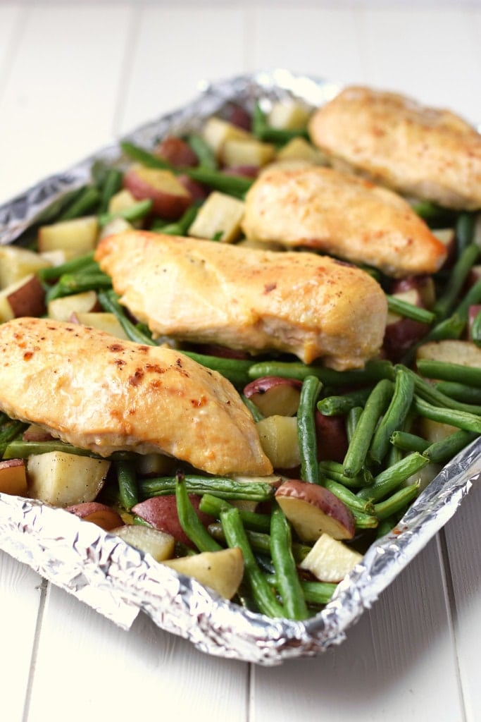 One Pan Honey Garlic Chicken And Vegetables Healthy