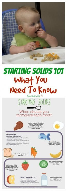 MOM TIPS - Starting Solids 101: What You Need to Know. Starting solids can seem overwhelming at first. Here's what you need to know--straight from a registered dietitian and mom. https://www.superhealthykids.com/starting-solids-101-need-know/