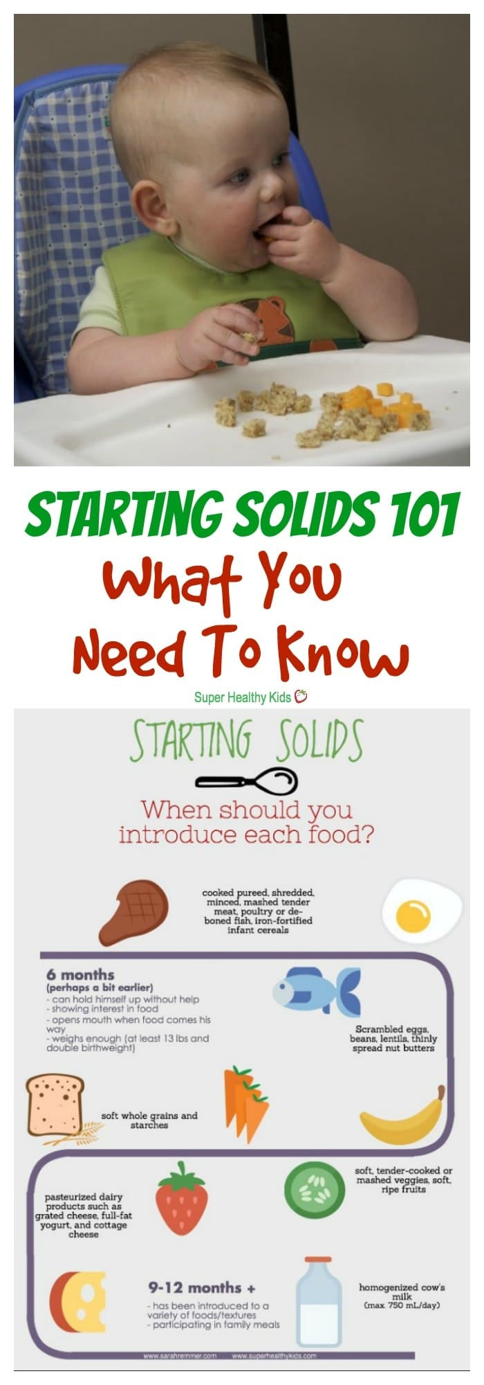 MOM TIPS - Starting Solids 101: What You Need to Know. Starting solids can seem overwhelming at first. Here's what you need to know--straight from a registered dietitian and mom.https://www.superhealthykids.com/starting-solids-101-need-know/