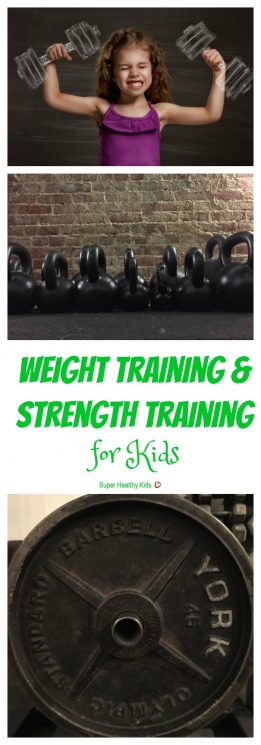 FITNESS FOR KIDS - Weight Training & Strength Training for Kids. Should kids lift weights for exercise? All about strength training for kids. https://www.superhealthykids.com/weight-training-strength-training-kids/