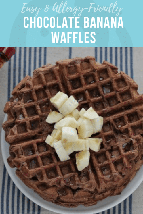 Allergy Friendly Chocolate Banana Waffles | Healthy Recipes for Kids