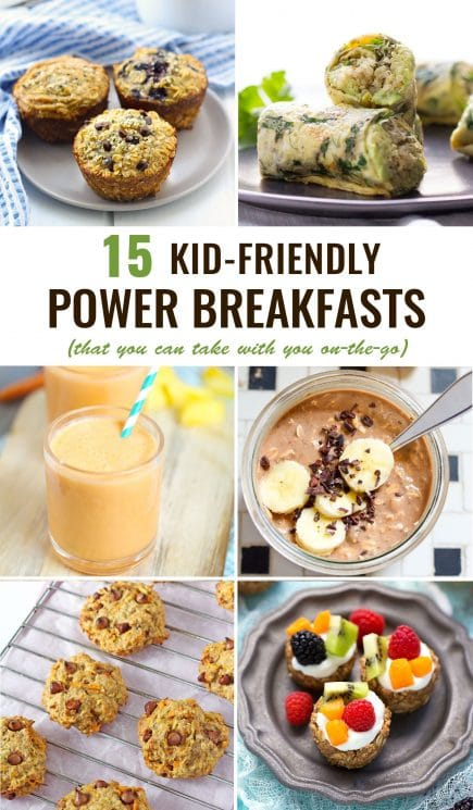 FOOD - Kid-Friendly Power Breakfasts To Go. The 15 BEST power breakfasts for kids -- healthy, delicious and the best part is they're PORTABLE! https://www.superhealthykids.com/kid-friendly-power-breakfasts-go/