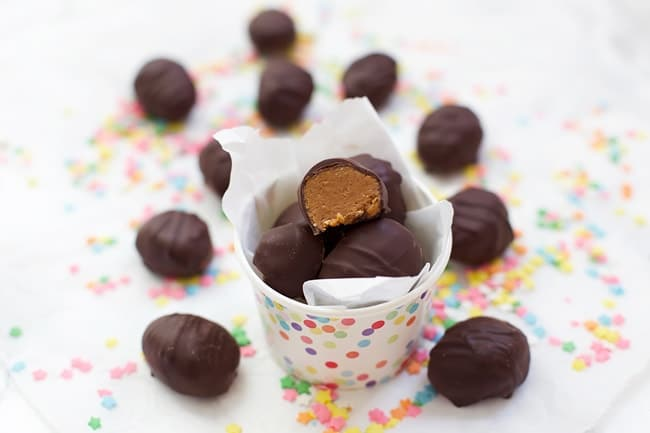 Healthier Reese's Eggs - use your favorite nut or seed butter for a healthier Easter treat!